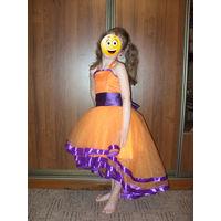 Нарядное и оригинальное платье для девочки 116-122