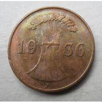 Германия. 1 рейхспфенниг 1936 F 46