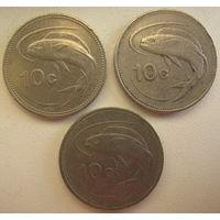 Мальта 10 центов 1991, 1992, 1995 гг. Цена за 1 шт. (gl)