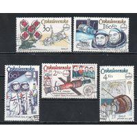 Годовщина полета в космос первого международного экипажа Чехословакия 1979 год серия из 5 марок