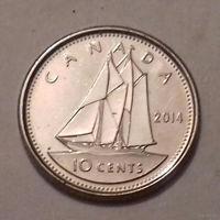 10 центов, Канада 2014 г., UNC