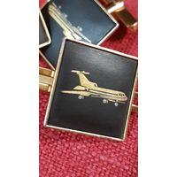 Зажим для галстука и запонки Avia export ТУ-154 СССР.