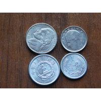 Четыре монеты за  1 рубль....20