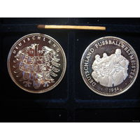 Германия 1995 год, серебро; цена за 2 штуки