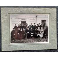 Фото группы белорусской интеллегенции. 1920-30-е. 12х17 см.