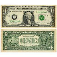 США. 1 доллар (образца 1995 года, F, Джорджия, P496)