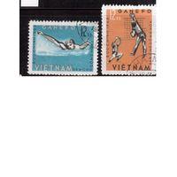 Вьетнам-1965(Мих.284,285) , гаш.,  Спорт ,