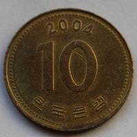 10 вон 2004 Корея