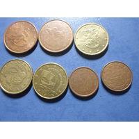Лот нечастых евроцентов