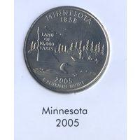 25 центов США 2005 г. штат Минесота D