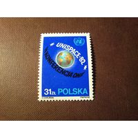 Польша 1982 г.2-я Конференция ООН по использованию космического пространства в мирных целях ./1а/