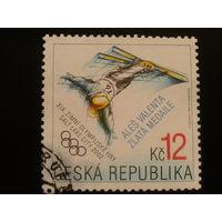 Чехия 2002 надпечатка на олимпийской марке