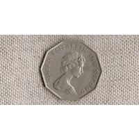 Гонконг 5 долларов 1976  /граненая/редкая/большая монета/(Sx)