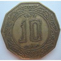 Алжир 10 динаров 1979 г. (d)
