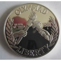 США, доллар, 1988, серебро, пруф