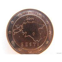 Эстония 1 евроцент 2011г.