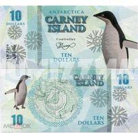 Остров Карней 10 долларов 2016 год   UNC. фентези.  распродажа