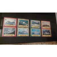 Транспорт, парусники, корабли, флот, марки, Британские Виргинские острова, 1986, 8 марок