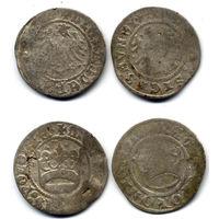 Лот из 2 монет: Полугрош, Александр Ягеллончик, Польша. Полугрош, Жигимонт Старый, Польша.