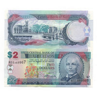 Барбадос 2 доллара образца 2007 года UNC p66b