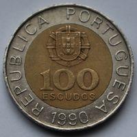 100 эскудо 1990 Португалия