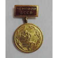 "Знак ""Чемпион БССР"". Латунь."