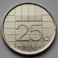25 центов 1986 Нидерланды