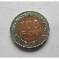 Руанда 100 франков 2007 - UNC!