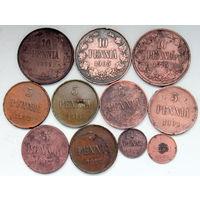 Лот (11 шт.) монет для Финляндии