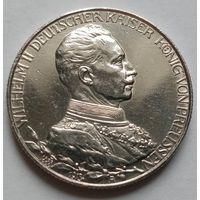 2 марки 1913 г. 25 лет правления Вильгельма II. Королевство Пруссия. СЕРЕБРО. Состояние!!! KM# 533.