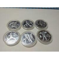 КОПИЯ!!! Набор монет СССР 1991 года Барселона -Олимпийские Игры  (6 штук)