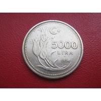 Турция 5000 лир 1994 года