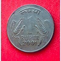 04-02 Индия, 1 рупия 2001 г. Калькутта