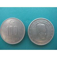 Турция  100 тысяч лир  2002