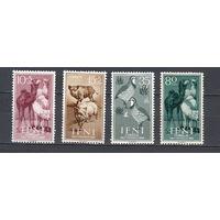Фауна. Животные. Ифни. 1960. 4 марки (полная серия). Michel N 188-191 (2,2 е)