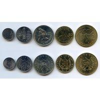 Гватемала НАБОР 5 монет 2009-2013 UNC