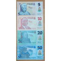 Набор банкнот Нигерии - 4 шт - полимер - UNC