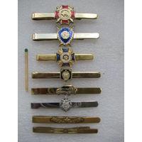 Зажимы для галстука силовых структур РБ. тяжёлые. цена з 1 шт.
