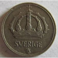 Швеция 10 эре 1950 серебро