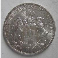 Германия. 3 марки 1914 серебро. Гамбург.  V.03