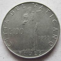 Ватикан 100 лир 1955