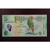 Фиджи 5 долларов 2012 UNC