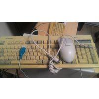 Ретро клавиатура и мышь