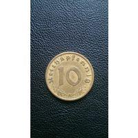 10 пфеннингов 1938г. Германия (3-й рейх)
