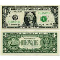 США. 1 доллар (образца 2009 года, K, Техас, P529, UNC)