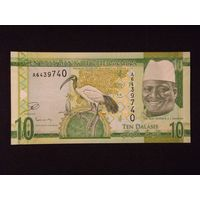 Гамбия, 10 даласи 2015 год. UNC