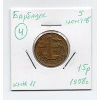 Барбадос 5 центов 1998 года -4