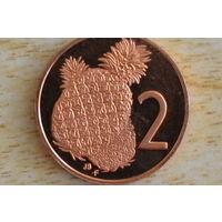 Острова Кука 2 цента 1975 пруф!