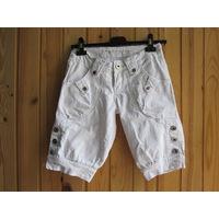 Бриджи джинсовые белые, р.42