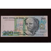Бразилия 200 крузейро 1990 UNC